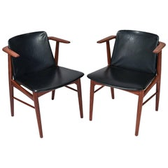 Pair of Hans Olsen for N.A. Jorgensen 'Bramin' Teak Armchairs