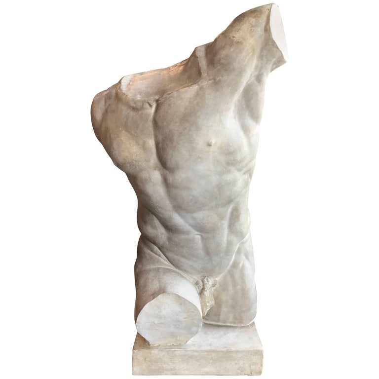 Gladiatore Borghese, Plaster Bust, Copy in Scale 1/1