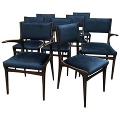 Carlo de Carli Chairs Set of Eight Including Two Chairs with Armrest 1951