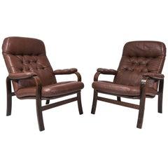 Pair of Danish Mid-Century Easy Chairs