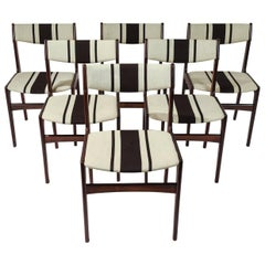 Set of Six Erik Buch Style Rosewood Side Chairs