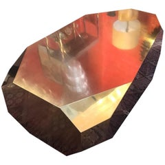 Brass Rock Design Coffee Table