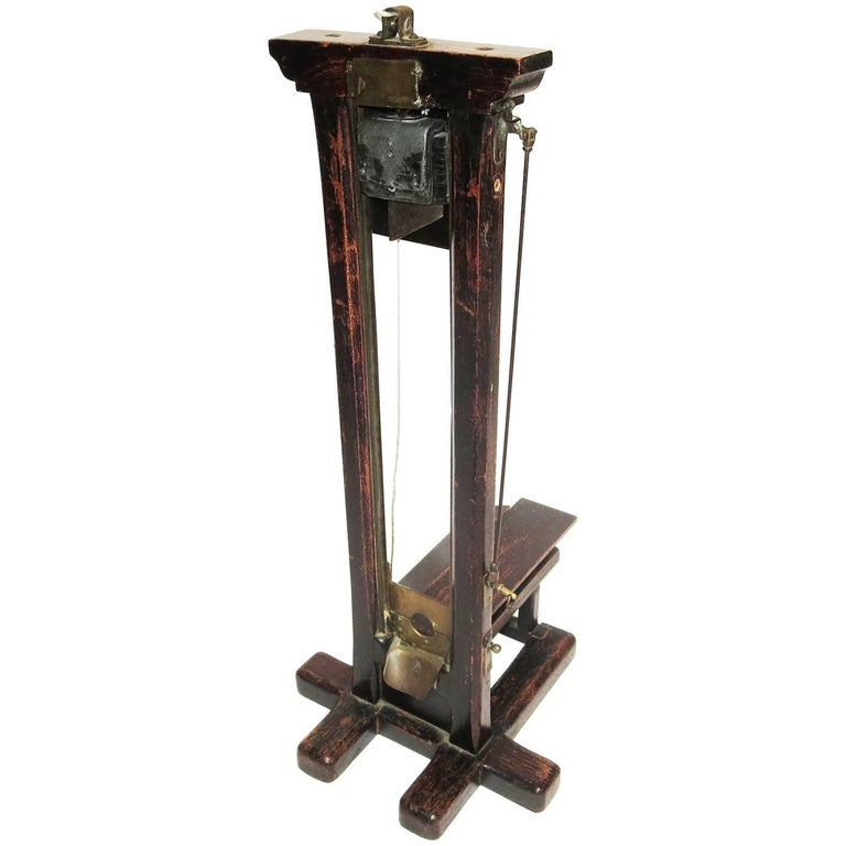 Late 1800s, French Guillotine Cigar Cutter 1