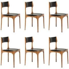 Set of Six Giuseppe Gibelli Dining Chairs, circa 1960