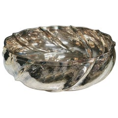 "Artisan Crafted Vintage Silver Italian ""Swirl"" Bowl"