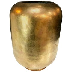 Super Chic Italian Vase in Brass, circa 1970