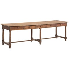 Oak and Pine Refectory Work Table, circa 1900