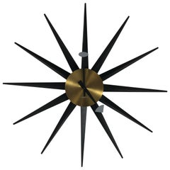 Rare Oversized Modern Spike Clock by George Nelson, Howard Miller