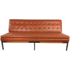 Mid-Century Modern Chrome Leg Sofa