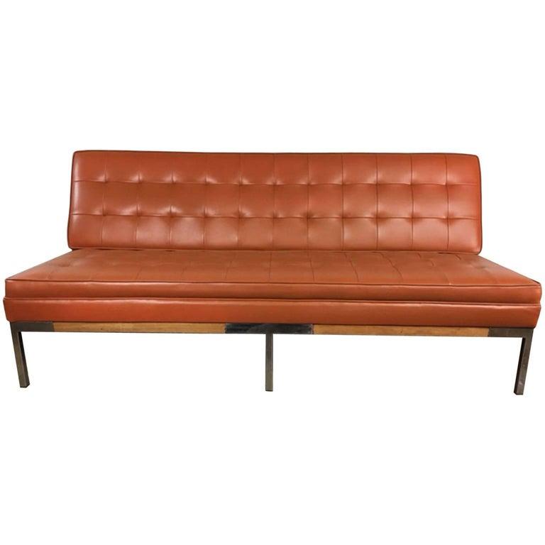 Mid Century Modern Chrome Leg Sofa For Sale At 1stdibs