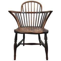 Classic English Elm Antique Windsor Chair
