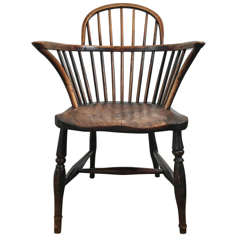 Classic English Elm Antique Windsor Chair For Sale - Classic English Elm Antique Windsor Chair For Sale At 1stdibs