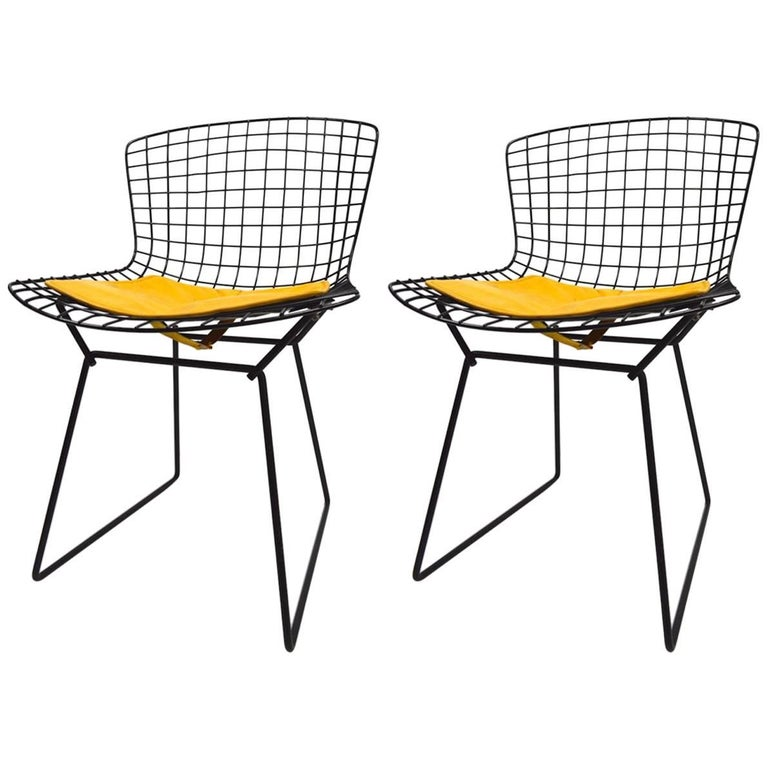 Pair of Bertoia for Knoll Wire Side Chairs