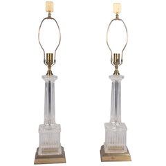 Glass Column Lamps by Chapman