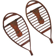 Early Graphic Wood Snowshoes