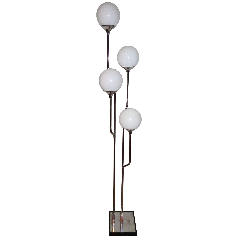 Stunning 1960s Italian Goffredo Reggiani Chrome Floor Lamp Mid-Century Modern