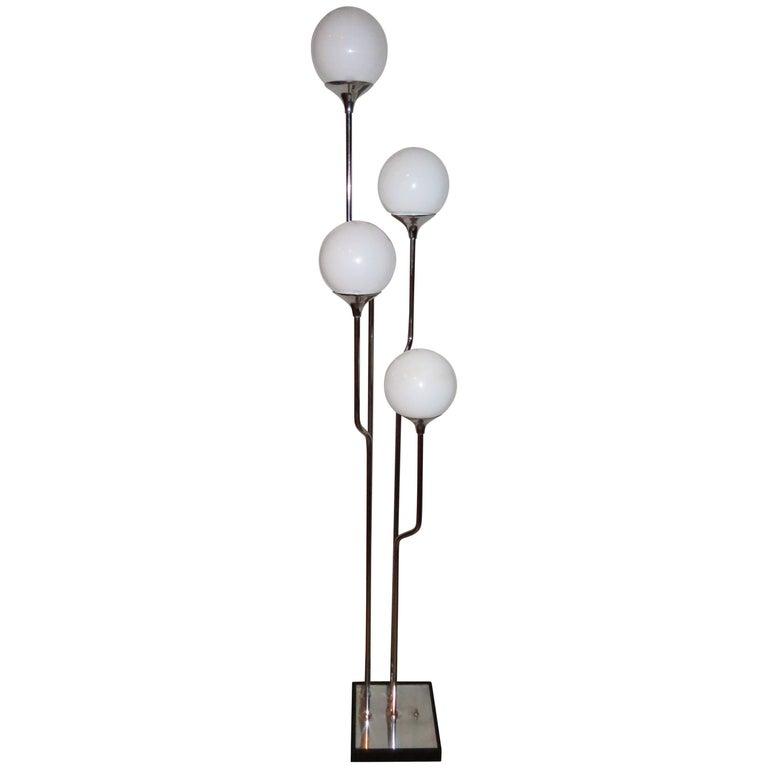 Stunning 1960s Italian Goffredo Reggiani Chrome Floor Lamp