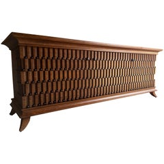 Spectacular Rosewood Credenza Sideboard Large Bespoke Case Piece Show Stopper
