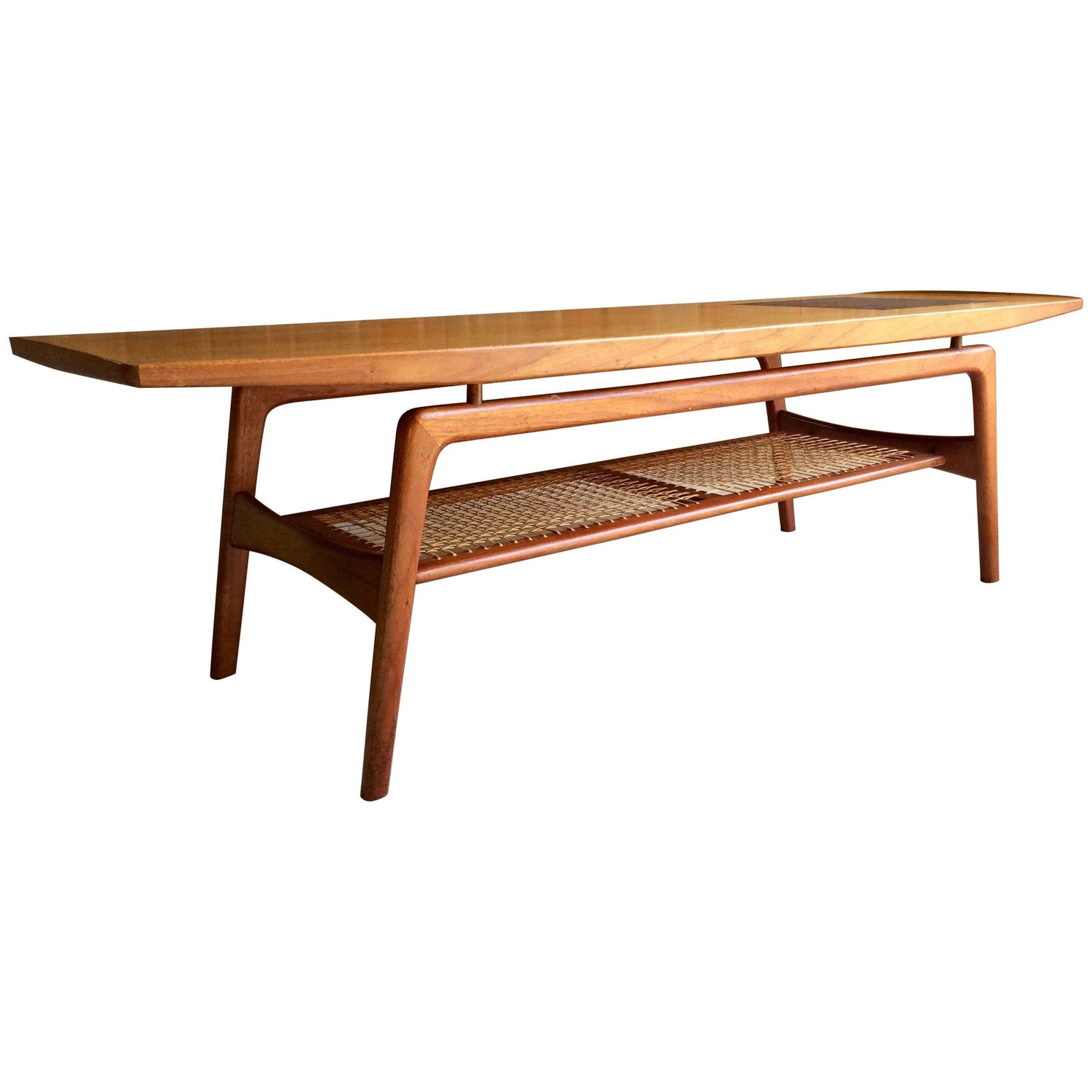 Danish Modern Teak and Mosaic Tile Coffee Table by Arne Hovmand