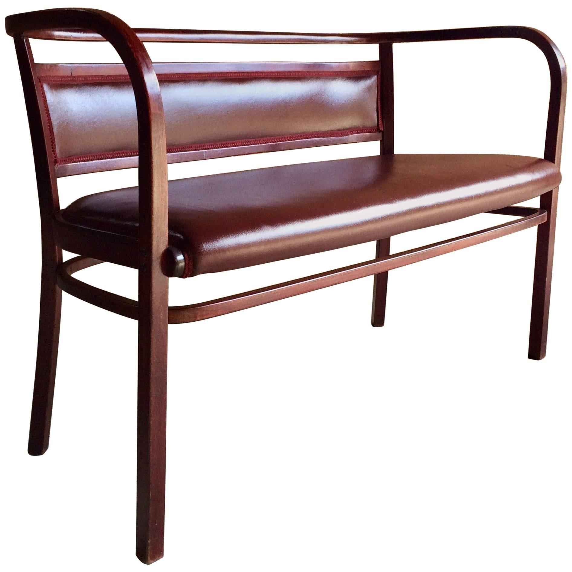 Otto Wagner For Thonet Bentwood Sofa Bench, Circa 1908 Model 3 1