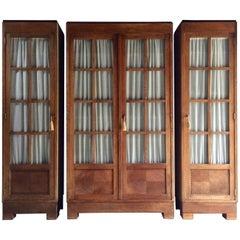 Bruno Paul for Vereinigte Werkstatten Oak 'Typenmöbel' Cabinets, circa 1908