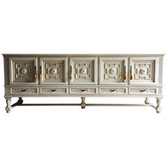 Antique Style Sideboard Credenza Carved French Painted Large Bespoke