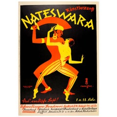 Original Vintage Asian Design Poster for Nateswara Kunstlerzunft Artist Festival