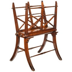 Regency Mahogany Folio Stand with Finley Turned Stretchers