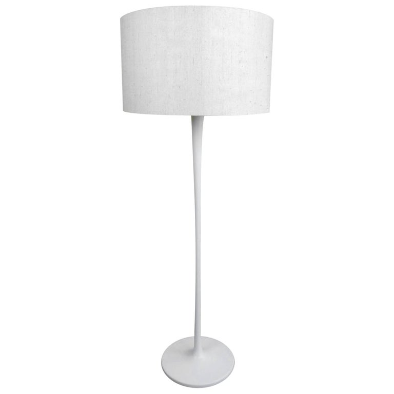 Floor Lamp with White Tulip Base from Staff, Germany, 1960s