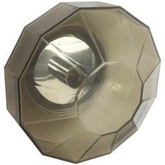 """Modernistisches 1970er Deutsches """"Diamond"""" Wandlicht Hergestellt von Glashütte Limburg, Deutschland"""