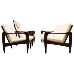 Lounge Set / Living Room Set Teak White by De Ster Gelderland Dutch Design, 1960