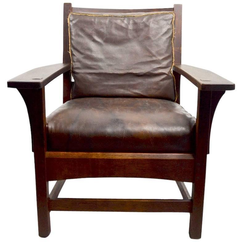 ... Reclining Morris Chair. View More. Mission Armchair by L JG Stickley  sc 1 st  1stDibs & Lu0026JG Stickley Mission Reclining Morris Chair For Sale at 1stdibs islam-shia.org