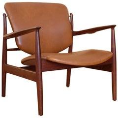 Finn Juhl Model 136 Lounge Chair France & Son, Denmark, 1956