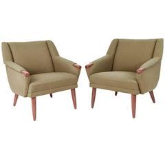 Pair of Danish Mid-Century Model Congo Easy Chairs by Erhardsen & Andersen