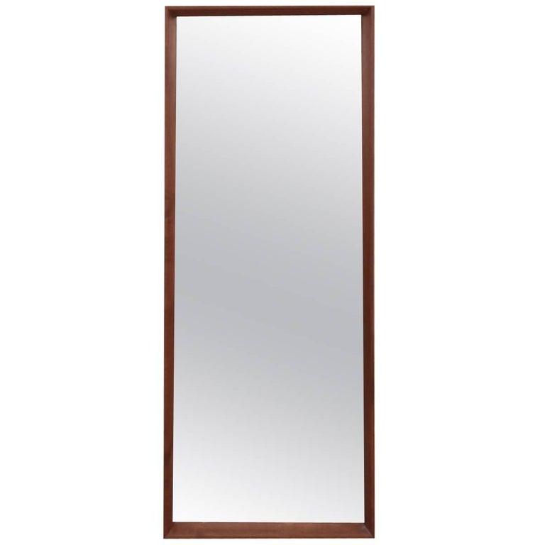 Danish Midcentury Teak Frame Mirror