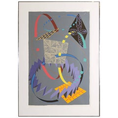 Will Conlin Large Screenprint, Signed and Numbered 58/72, 1981