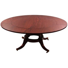 Regency Style Mahogany Dining Table with Five Leaves