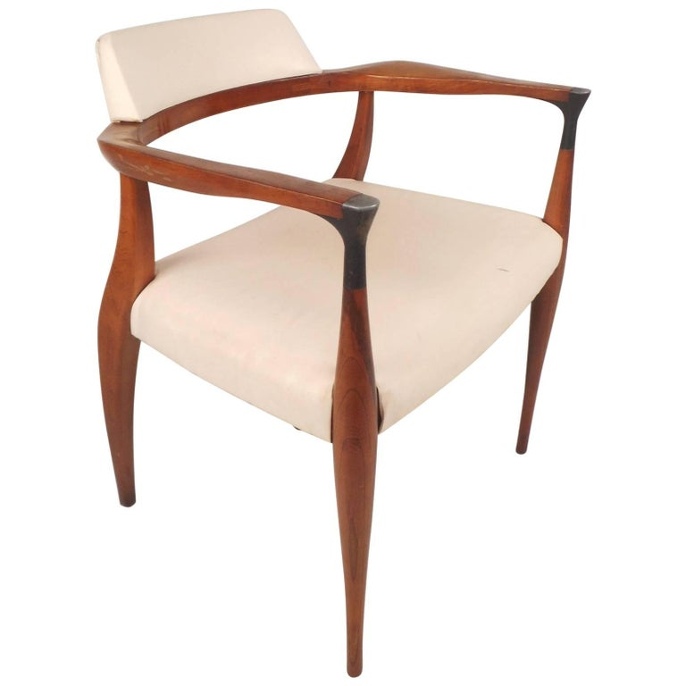 Unique Mid-Century Modern Occasional Armchair For Sale