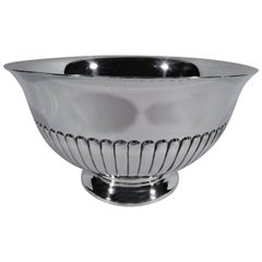 Cartier Mid-Century Modern Classical Sterling Silver Footed Bowl