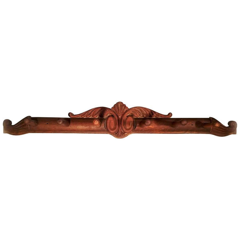 Antique Wood Horse Tack Rack, Late 19th Century