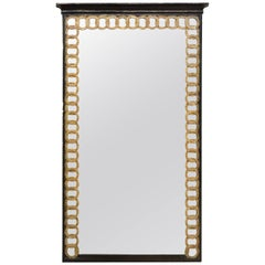 Mid-20th Century Neoclassical Style Paint & Parcel-Gilt Mirror, Palladio, Italy