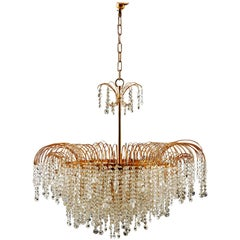 Stunning Cut Crystal Chandelier from the 1970s