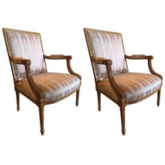 Classic Pair of French Armchairs