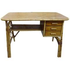 Beautiful Wicker Desk, circa 1960