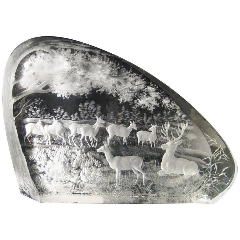 """""""Grazing Deer"""" by Ivan Chalupka"""
