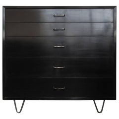 George Nelson Herman Miller Hairpin Leg Chest Dresser with M Pulls