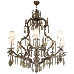Large Mid-19th Century, Austrian Crystal Chandelier