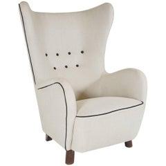 Mogens Lassen Wingback Lounge Chair