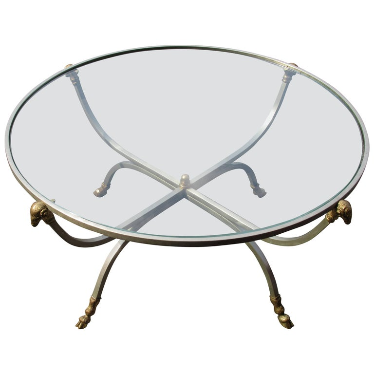 Steel and Bronze Table in the style of Maison Jansen