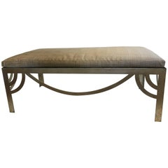 Casamidy Ixelles Bench in Silverleaf Finish